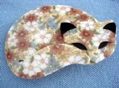 Lea Stein - Retro Floral Cat Brooch by Lea Stein of Paris (SOLD)